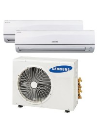 Samsung Multi-Zone 24,000 BTU Mini Split Air Conditioner System w/ 2 - 12,000 BTU Indoor Units