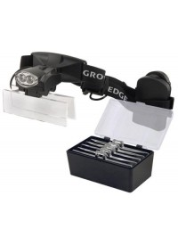 Grower's Edge LED Headband Magnifier w/ 5 Lenses 1.0x - 1.5x - 2.5x - 3.0x - 3.5x