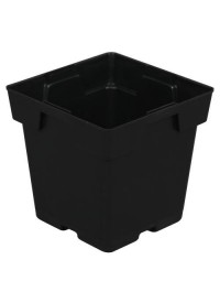 Black Square Pot (Jumbo) 5 in x 5 in x 5 in