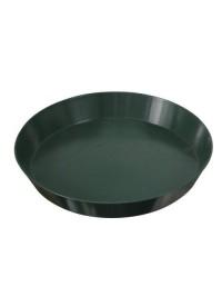 Green Premium Plastic Saucer 12 in