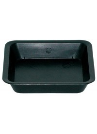 Black Square Saucer for 1 Gallon Pot