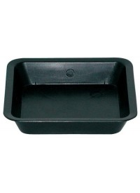 Black Square Saucer for 2 Gallon Pot