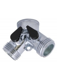 Bond Metal Y Connector w/ Dual Shut-Off 3/4 in
