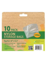Grower's Edge Nylon Storage Bag - 1 mil 19 in x 23.5 in - 10/Pack