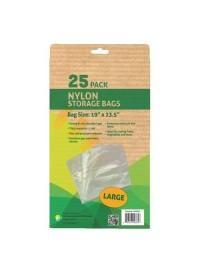 Grower's Edge Nylon Storage Bag - 1 mil 19 in x 23.5 in - 25/Pack
