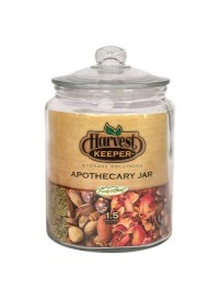 Harvest Keeper Glass Storage Apothecary Jar w/ Sealed Lid 1.5 Gallon