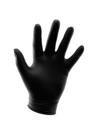Grower's Edge Black Diamond Textured Nitrile Gloves 6 mil - Medium
