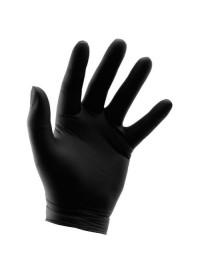 Grower's Edge Black Nitrile Gloves 6 mil - Large (100/Box)